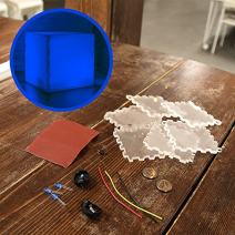 Kitables DIY Night Light Cube Kit (Blue) - A Fun and Easy Project to Light Up Your Night