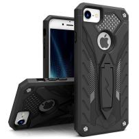 ZIZO Static Series for iPhone 8 Case Military Grade Drop Tested with Built in Kickstand iPhone 7 iPhone 6s Case Black Black