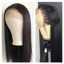 Lace Front Wigs, VIPbeauty 130% Density Glueless Brazilian Virgin Straight Human Hair Lace Front Wig for Black Women Pre Plucked with Baby Hair(12 Inch, Nature Color)