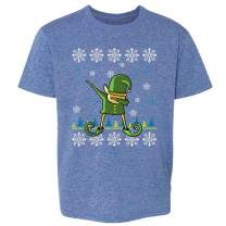 Pop Threads Elf Dabbing Christmas Holiday Funny Sweater Style Toddler Kids Girl Boy T-Shirt