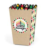 Big Dot of Happiness Happy Kwanzaa - African Heritage Holiday Party Favor Popcorn Treat Boxes - Set of 12