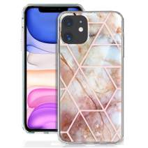 GDTOGRT iPhone 11 Case, Luxury Geometric Marble Design Men Women Girls, SlimSoft TPU Clear Bumper Electroplated Scratch Resistant Protective Hard Back Cover Compatible iPhone 11 6.1 inch-Geometric P