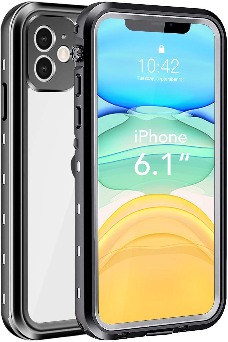 """iPhone 11 Waterproof Case, Shockproof Dropproof Dirt Rain Snow Proof iPhone 11 Case with Screen Protector, Full Body Protection Heavy Duty Underwater Cover for iPhone 11/6.1""""【2019】"""