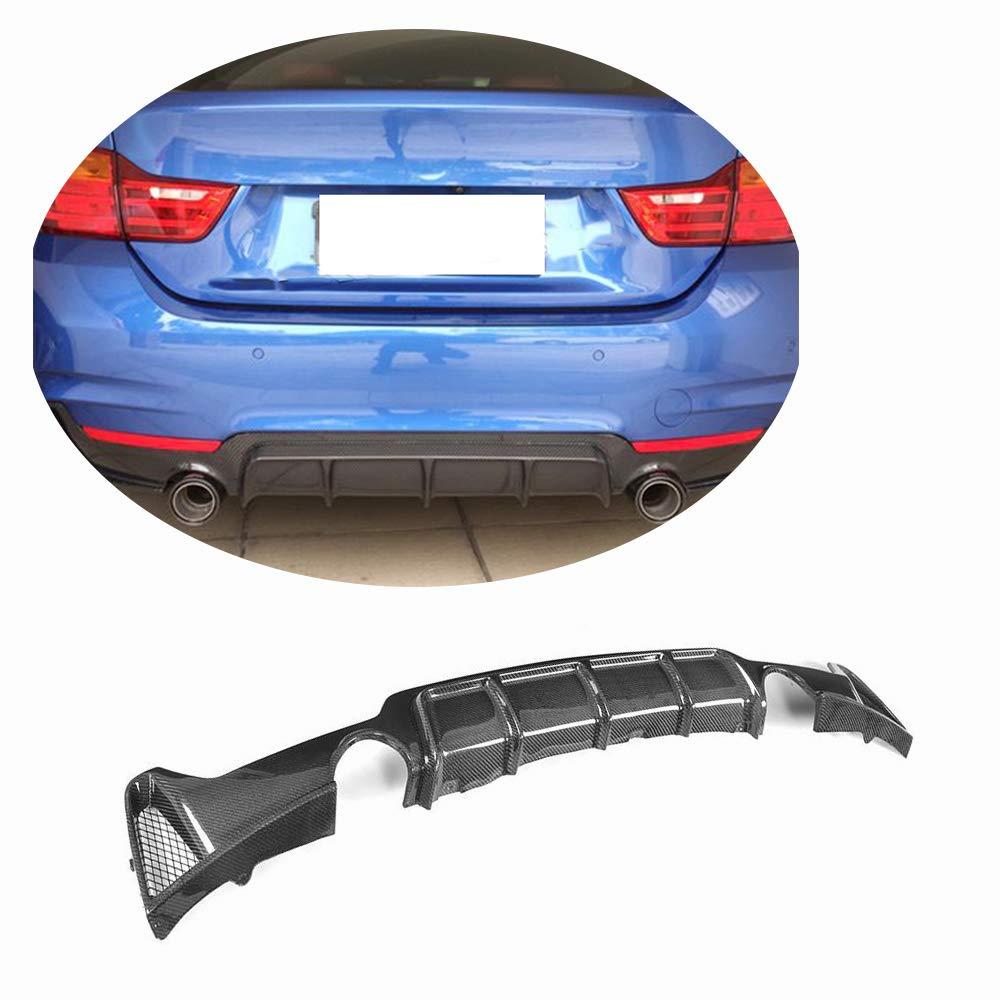 MCARCAR KIT Rear Diffuser fits BMW 4 Series F32 F33 F36 M Sport 2014-2018 Factory Outlet 420i 428i 435i 440i M-Tech Carbon Fiber CF Lower Bumper Lip Spoiler Body Kit