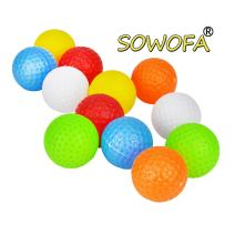 """Plastic Practice Golf Balls Accessory Kits Set Toy for Kids Toddlers Diameter 1 1/2"""" Inch 10 Pack 5 Color Randomly"""