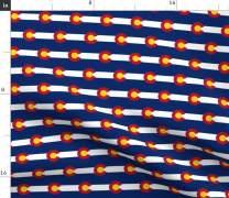 Spoonflower Fabric - Colorado Flag Flags USA United States America Printed on Organic Cotton Sateen Fabric by The Yard -