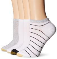 Gold Toe Women's Stripe Liner Sock 4-Pack