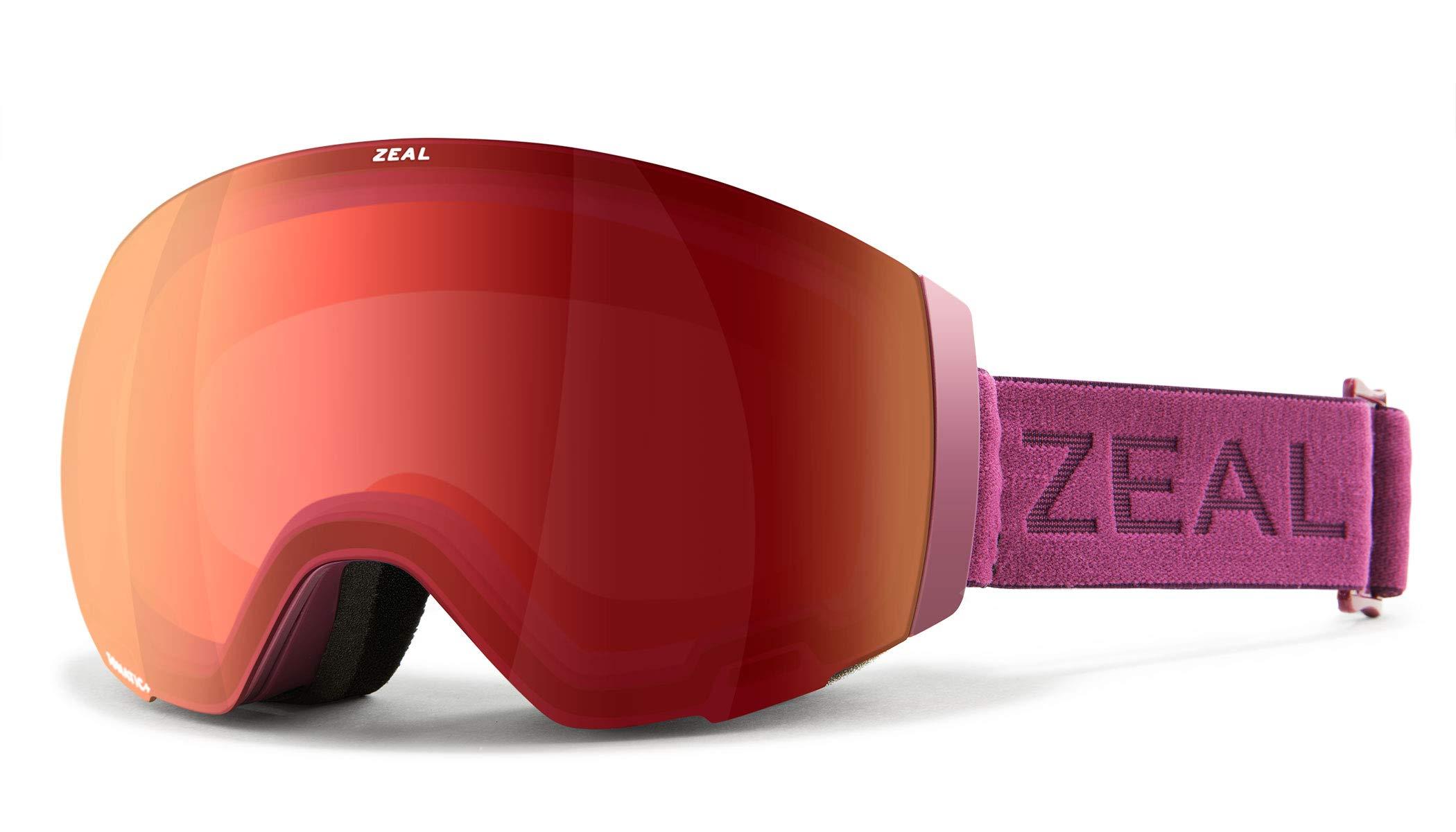 Zeal Optics Portal - Frameless Ski & Snowboard Goggles for Men & Women, Rail Lock System Goggles