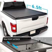 """Syneticusa Aluminum Retractable Low Profile Tonneau Cover for 2004-2020 F-150 F150 6'5"""" Standard Truck Bed"""