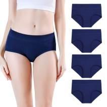 wirarpa Women's Cotton Stretch Underwear Soft Mid Rise Briefs Underpants Multipack