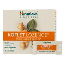 Himalaya Koflet Lozenges, Herbal Cough Drop with Ginger, Long Pepper and Cardamom for Bronchial Soothing Comfort, 130 mg, 20 Lozenges