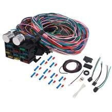 12 Circuit Universal Wiring Harness Kit for Chevy Ford Mopar GM Hot Rod Rat Rod Truck Race Classic Simple Car Speedway Auto Automotive Universal 12 Circuit 10 Fuses 12V Painless Basic Wire Harness