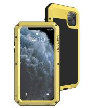 iPhone 11 Metal Case, Heavy Duty 6.1 Inch LIGHTDESIRE Aluminum Protective Metal Extreme Water Resistant Shockproof Military Bumper Cover Shell - Yellow