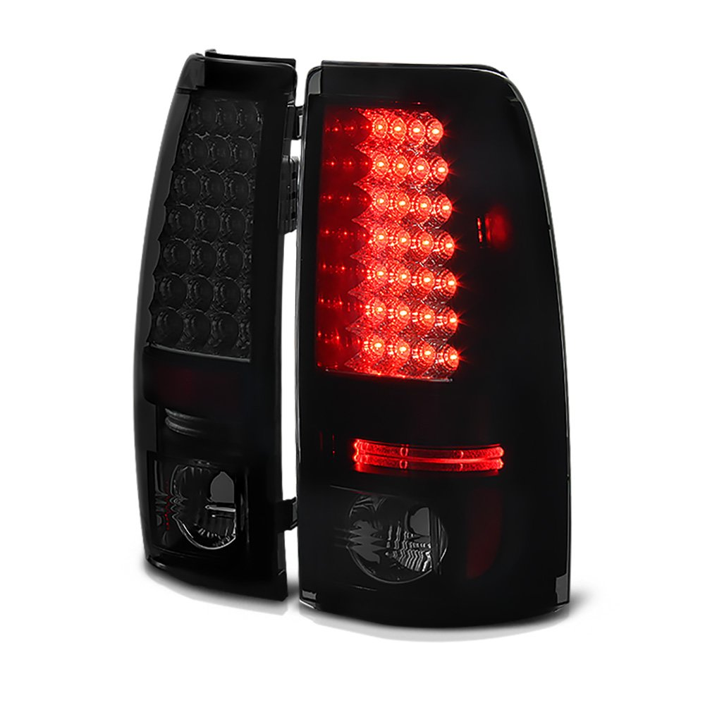 VIPMOTOZ Black Smoke Premium LED Tail Light Housing Lamp Assembly For 2003-2006 Chevy Silverado 1500 2500 3500 Driver and Passenger Side Replacement