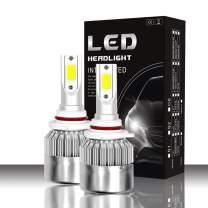 9005 LED Headlight Bulbs,Mushan Hi/Lo Beam/Fog Light Superbright LED Bulbs IP68 Waterproof -56W 6000K 10400Lumens HB3 High Power Headlight(1 pair))