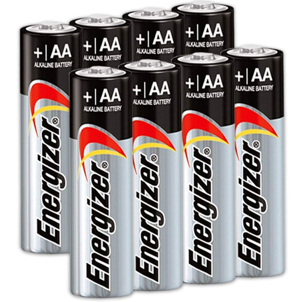 8 Count Energizer AA Batteries, Double A Battery Max Alkaline, Long Lasting, Leak Resistant, The Perfect Choice of Power for All AA Battery Operated Devices