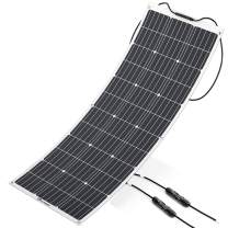 ALLPOWERS Solar Panel 100W 18V 12V Flexible Solar Charger Monocrystalline Lightweight Solar Module Kit with Connector Charging for RV Boat Cabin Tent Car (Compatibility with 18V and Below Devices)