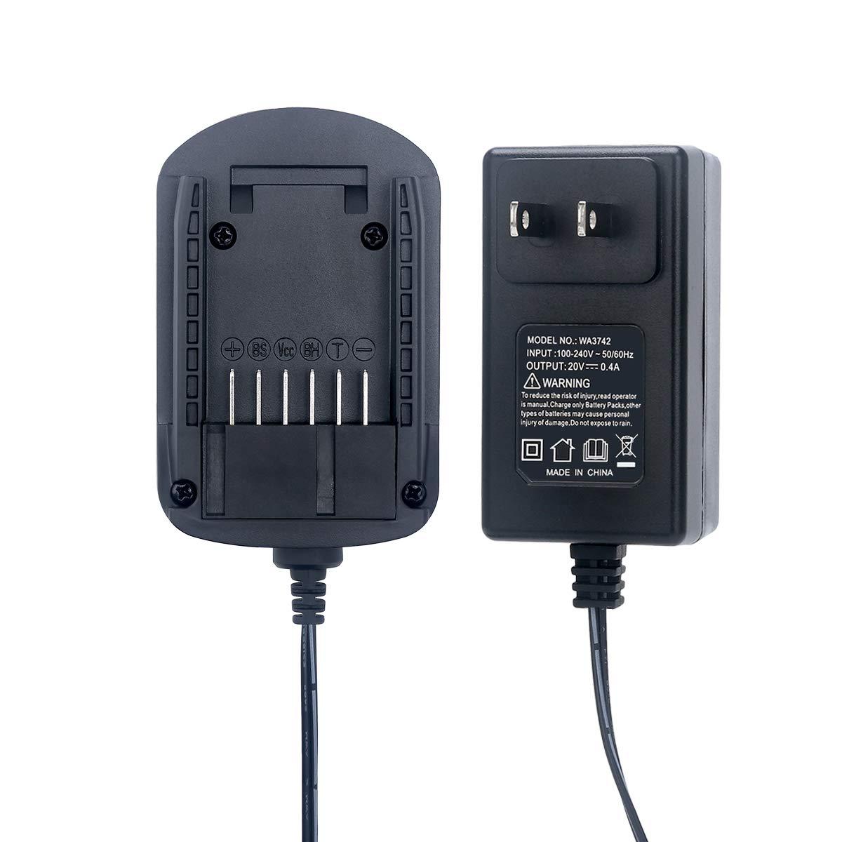 Lasica WA3742 20V Lithium Battery Charger for Worx 20V Power Share Battery WA3520 WA3525 WA3578 WA3575 WA3512 WA3512.1 WA3522 WA3544 Worx Battery Charger 20V WA3732 WA3875 WA3881