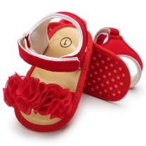 COSANKIM Baby Girls Sandals Infant Summer Shoes with Flower Soft Sole Newborn Toddler First Walker Crib Shoes