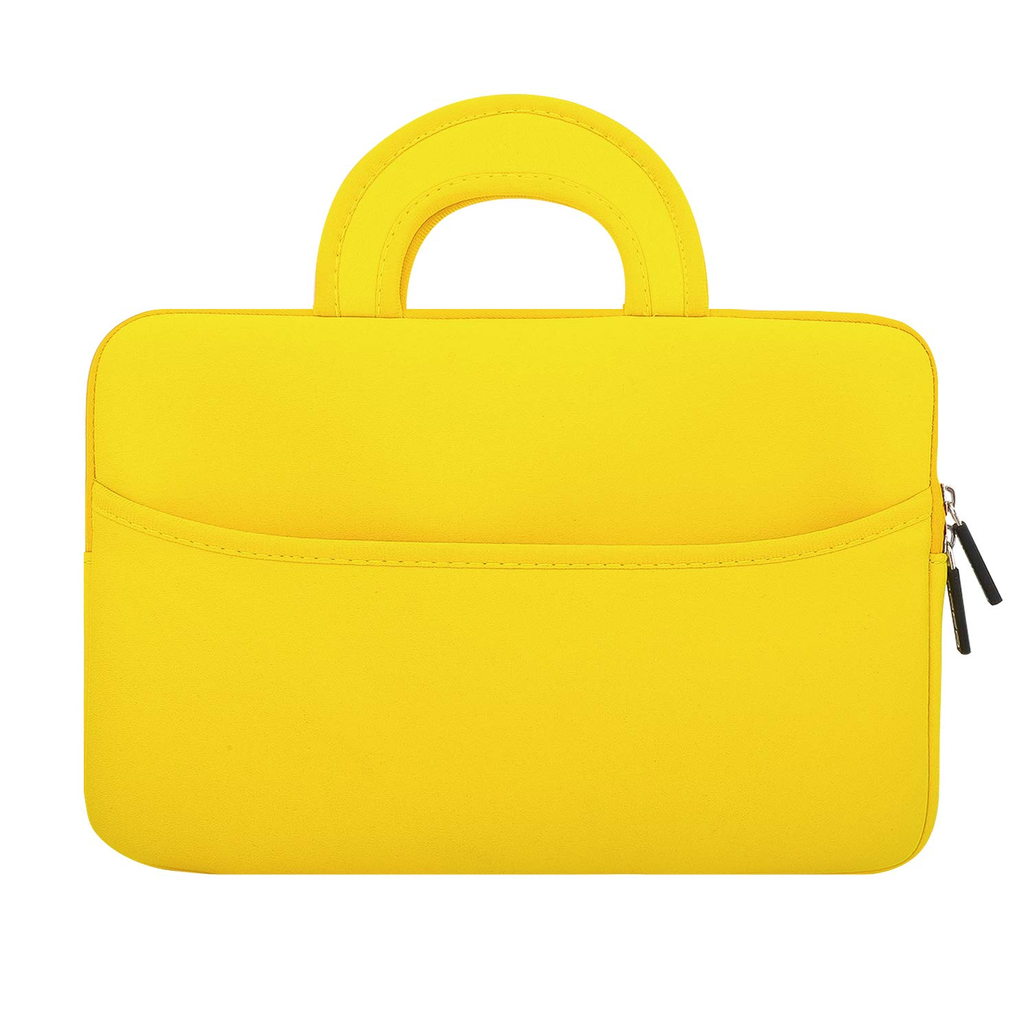 """MoKo 8-10.1 Inch Kids Tablet Sleeve, Neoprene Zipper Carrying Case Bag Fits iPad Pro 11"""", iPad 10.2, Dragon Touch 8/10 inch Kids Tablet with Accessory Pocket - Yellow"""