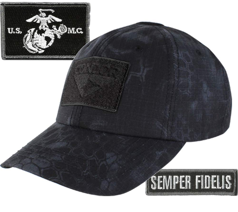 Condor Operator Cap Bundle w/Marine Corps Semper Fidelis Tactical Patches