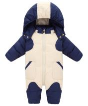GainKee Baby Girl and Boy Snowsuit Duck Down Jacket Kids Snow Wear Hooded Puffer Jumpsuit Winter Warm Romper