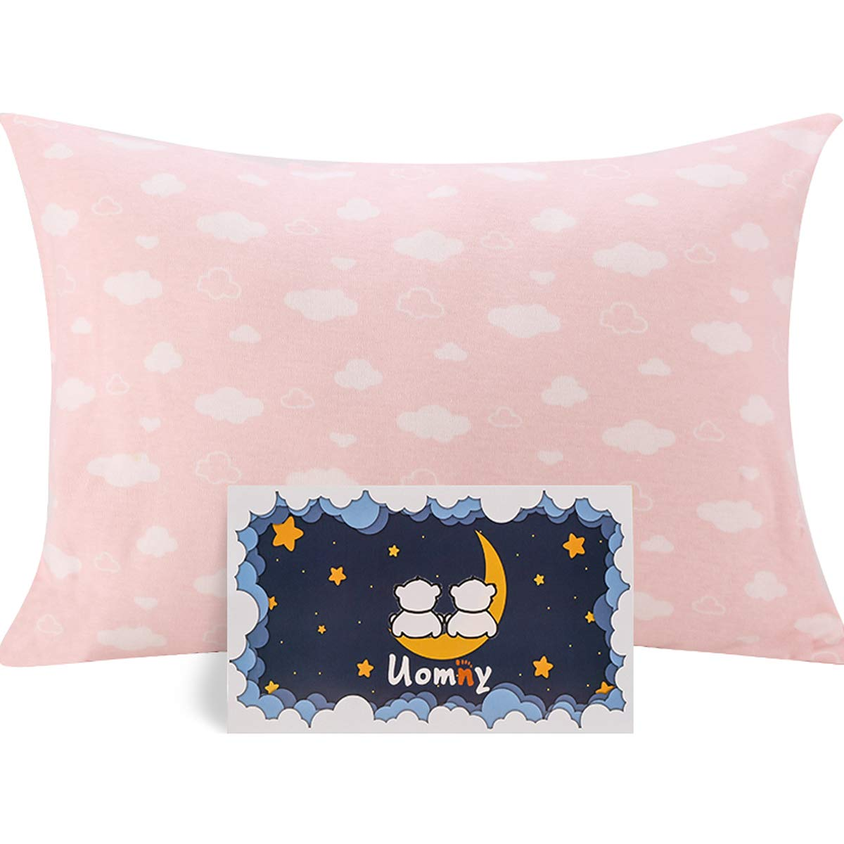 UOMNY Kids Toddler Pillowcases100% Natural Cotton Travel Pillowcase Cover with Envelope Closure 1 Pcs 14x19 Baby Pillow Cases for Sleeping Tiny Pillows case Kids' Pillowcases