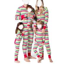 Matching Family Pajamas PJ Christmas Striped Onesie Sleepwear