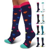 SouqFone Compression Socks for Men & Women (20-30mmHg) Best Graduated Stockings
