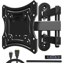 """Everstone TV Wall Mount Fit for Most 20-42"""" TVs Full Motion Bracket up to 66 lbs VESA 200 with 16"""" Extension Arm,Using for LED,LCD,OLED and Plasma Flat Screen TV,Curved TV,HDMI Cable"""