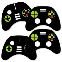 Game Zone - Game Controller Decorations DIY Pixel Video Game Party or Birthday Party Essentials - Set of 20