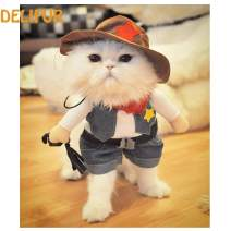 Delifur Cowboy Pet Costume with Hat Dog Carrying Costume Funny Pet Clothing Pet Halloween Spooky Night Clothes Special Events Costume for Dog & Cat