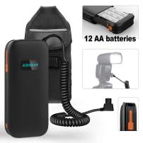 AODELAN External Flash Battery Pack Rapid Recycling Portable for Speedlite Sony HVL-F60M, HVL-F58AM, HVL-F56AM. Replaces Sony FA-EB1AM, FA-EB1 (12 AA Batteries)