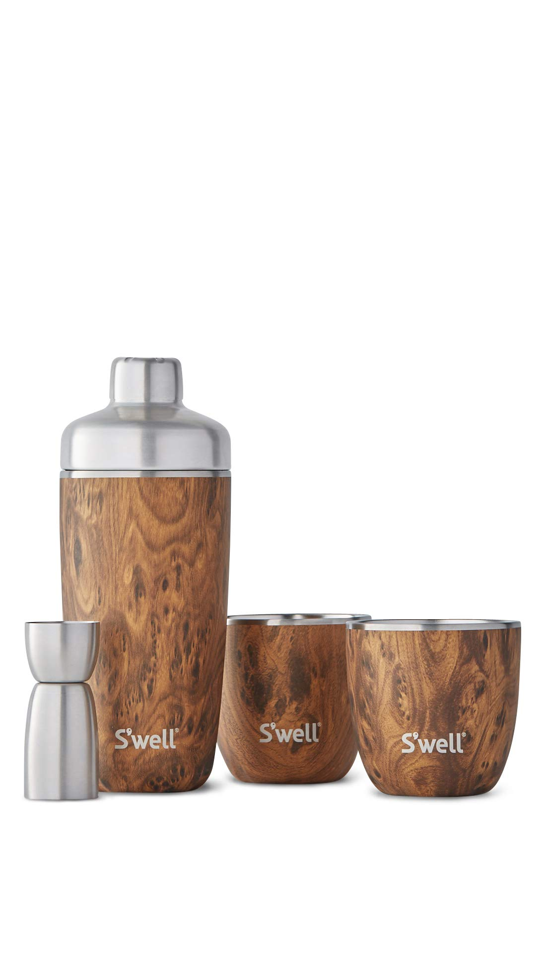 S'well Teakwood Cocktail Kit, One Size