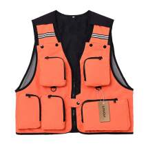 Lixada Fly Fishing Vest Sleeveless Mesh Fishing Jacket Multi-Pockets Breathable Photography Hunting Fishing Climbing Vest