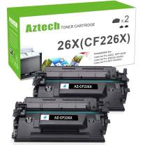 Aztech Compatible Toner Cartridge Replacement for HP 26X CF226X 26A CF226A Laserjet Pro MFP M426fdw M426fdn M426dw Laserjet Pro M402n M402dw M402dn (Black, 2-Pack)