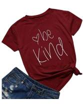 Qrupoad Be Kind T Shirt for Women Kindness Inspirational Short Sleeve Graphic Tee Christian Shirts Tops