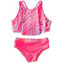AS ROSE RICH Girls Bathing Suits 0-16 - 2 Piece Swimsuits for Toddler Teen Girls - Summer Beach Sports Girls Swimsuits