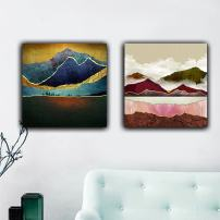 """MADE4U [ Abstract Series ] [ 16"""" ] [ Thicker Wood Framed ] Paint by Numbers Kit with Brushes and Paints (Great Saver Bundle of 2 XL113X205)"""