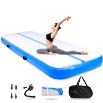 OneV FT Air Tumble Track Mat, Inflatable Gymnastics Air Mat for Gymnastics Training/Home Use/Cheerleading/Yoga/Water