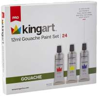 KingArt PRO Gouache Set Gouche Paint, 24 ea, Unique Colors