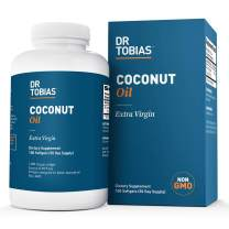 Dr Tobias Coconut Oil - Extra Virgin & Non-GMO Coconut Oil - 1,000 mg (100 Count)