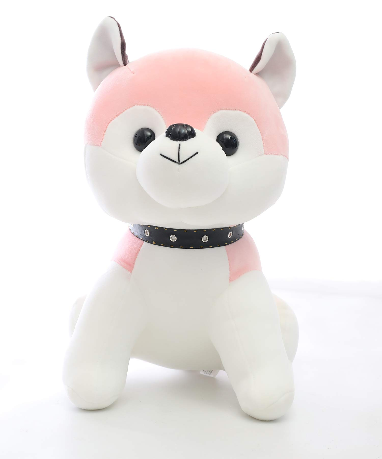 AIXINI Soft Plush Husky Puppy Dog Stuffed Animals Toys, Cute Elastic – Pink 19.6inch Gifts for Kids Baby Party Funny Bed Time