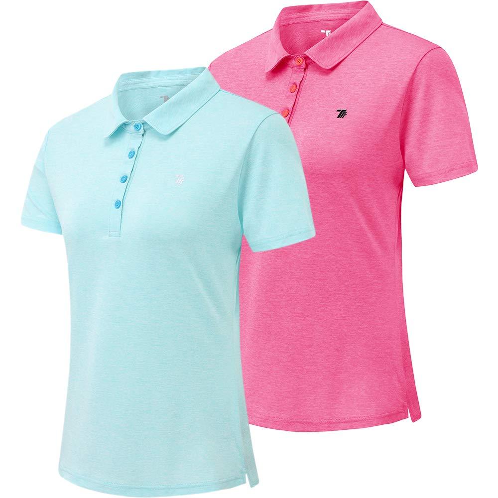 YIRUIYA Womens Polo Shirt Golf Sport Short Basic Quick Dry Shirt Pack