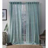 Exclusive Home Curtains Bella Window Curtain Panel Pair with Hidden Tab Top, 54x84, Seafoam, 2 Piece