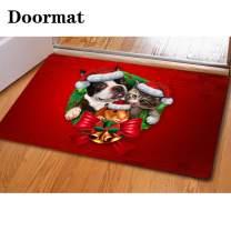 chaqlin Christmas Dog Hamster&Cat Design Durable Rubber Indoor Door Mat Eco-Friendly Easy-to-Clean