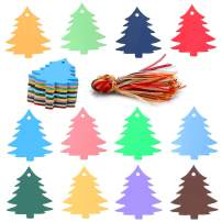 Christmas Tree Tags,120PCS 12 Colors Christmas Gift Tags with Organza Ribbons Perfect for Christmas Gift Wraps,Christmas Party Decoration
