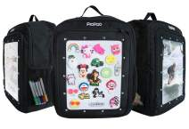 PicPac Customizable Magnetic Backpack with Adjustable Padded Shoulder Straps - Magic Water Resistant, Printable Magnetic Sheet Kit for Kids - Draw, Write, or Play Games