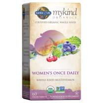Garden of Life Multivitamin for Women - mykind Organic Women's Once Daily Whole Food Vitamin Supplement, Vegan, 60 Count Tablets Packaging May Vary
