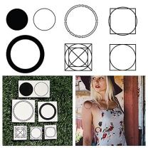 Tattify Various Circle Temporary Tattoos - Going in Circles (Complete Set of 12 Tattoos - 2 of each Style) - Individual Styles Available - Fashionable Temporary Tattoos
